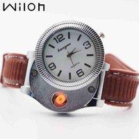 كوارتز ساعة للرجال عارضة الأزياء usb الأخف قابلة للشحن الساعات عديمة اللهب السجائر الإلكترونية ساعة f669 المعصم