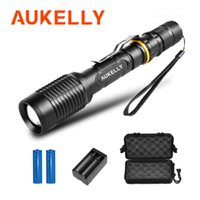 Aukelly Super Bright LED T6 Torch Zoomable Torch 6000Lumen 18650 ricaricabile Linterna Tactical Lampada in alluminio in alluminio Bicycle Light Torces torce