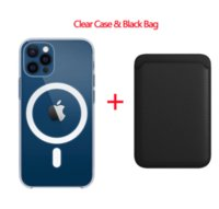 For Magsafe Magnetic Wireless Charging Case For iPhone 12 13 Pro MAX mini Magnetic Card Holder TPU Shockproof Cover Accessories
