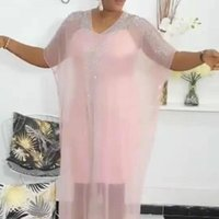 Clothes Clothing Ethnic Women 2021 Summer Black Pink Plus Size Long Dress African Dresses For