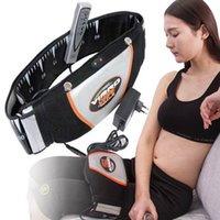 Electric Men Slimming Belt Women Fat Burning Leg Waist Foot Massager Slimming Belt Massager For Back Heat Vibrating Modelling
