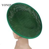 Imitação sinamay casamento moda fascinator base 30 cm tamanho para mulheres chapéu fascinatos diy acessórios de cabelo noiva