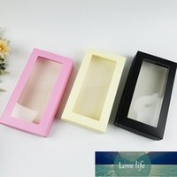 100 Pcs Paper Gift Boxes with Clear Window Packaging Box for Socks Wallet Carton Underwear Storage Boxes1
