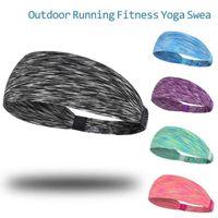 Quicky Dry Confetti Sport Sweat Sweatband Headband Unisex Yoga Gym Hairband Wide Elastic Hair Wraps Outdoor Running Fitness Head Bands Headwear L729O78