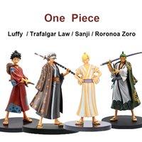 DXF Piece Страна WANO Anime Figure Luffy Trafalgar Law Sanji Roronoa Zoro PVC Action Figure Toys Collectible Model 18CM A0508