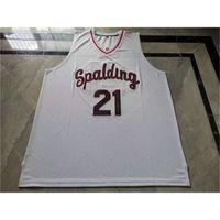 BaybayRare Jersey Basquetebol Homens Juventude Mulheres Vintage # 21 Rudy Gay Arcebispo Spalding High School College Size S-5XL Personalizar Qualquer nome ou número