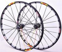 Roues à vélos MTB Crossride Disc Carbon Flower Hub Tambour Mountain Roulement Roulement de rouleau de rouleau, six trous, 26 27,5 29