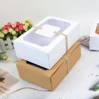 Bianco nero kraft carta favorita scatola regalo in PVC trasparente cookies cookies dolces box box decorazione della festa nuziale scatola di caramelle ewd6654