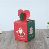 Christma Apple Box 포장 상자 종이 가방 크리 에이 티브 크리스마스 이브 크리스마스 과일 선물 케이스 캔디 소매 HWE9351