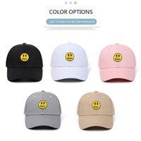 2021 100% Pamuk Smiley Drew Özel Beyzbol Şapkası İşlemeli Nakış Şapka Erkekler Ve Kadınlar için Trendy Çiftler Tasarımcı Şapka 11 Renkler