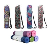 JUSENDA 75 * 16cm yoga tapis tapis tapis de toile transportant pour femme Sports Gym Sac à dos Zippecture Pocket Pocket Strap Fitness Fournitures