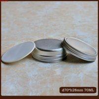 50 unids / lote 70 g de aluminio Tarro cosmético de aluminio Tornillo de tapa interior Pote de crema de hilo de 70 ml Ojos Labios Bálsamo Máscara Tin Pomado Mano BoxBods