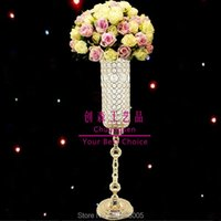 Party Decoration Wedding Road Lead,wedding Centerpieces Christmas Deco Flower Vase Table Holder,holiday Crystal Gold Centerpiece