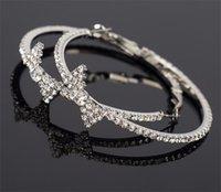 Pendientes de cristal de la moda aretes de círculo grande círculo grandes círculo aretes de aro para mujeres 280 J2