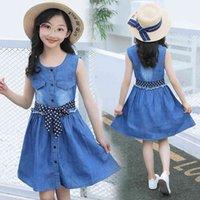 Kidswant малыша девочка одежда джинсовая короткая мини-дтрин с длинным рукавом вскользь вечеринка рубашка платье X0509