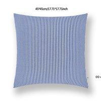 45*45cm Plaid Stripes Pillow case Sofa Waist Cushion Cover Car Decoration Solid Color Thicken Pillowcase Home Bed Supplies RRE10711