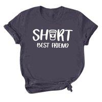 Women's T-Shirt Friend Printed Tshirt Tall Short Ie Bff Matching Sleeve Tops T-shirts Casual Cotton Drop