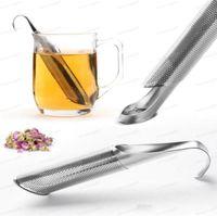 Herramientas de té de acero inoxidable Coladores de infusiones sanos de infusionador de cola colgante de estilo taza de café Taza de la taza de la cucharada de filtros