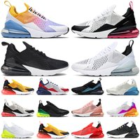 270 react shoes hommes des chaussures de course femmes formateurs Triple noir blanc rouge fer gris corail pastel photo bleu 270s hommes baskets de sport en plein air