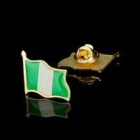 30 шт. Африканская Федеративная Республика Нигерия Жесткие страны Машины тисненного флага ремесло металлические лацкоры для моды ювелирных изделий