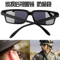 Vista posterior de los hombres Anti rastrillo Espía Gafas de sol reflectante Gafas Peeping Moda coreana Marco de ocio 8TSQ