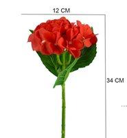 100pcs all'ingrosso ortensia artificiale singolo fiore di seta per la festa di nozze casa decorazione floreale hotel 6 colori HWD6100