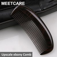 High Quality Top Grade Boutique Hair Wooden Combs Luxury Precious African Ebony Wood Exquisite Craft Pure Handmade Gift1