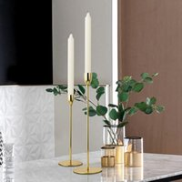 Candle Holders Romantic Nordic Metal Candlestick Gold Wedding Decoration Bar Party Home Decor Candlelight Dinner