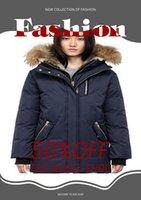 2021TOP Qualidade Canadá Mulheres Trillium Femme Ao Ar Livre Pele Down Jacket Hiver Thick Warm Duck Down Casaco Engrossado Fourrure Hooded Jackets