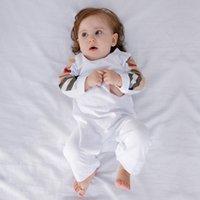 Mode Marque Lettre Style Neufborn Bébé Vêtements Bebe Imprimé Bear coton mignon enfant bébé garçon fille gommiste 0-24 mois