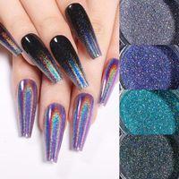 Nail Glitter Laser Color Powder Holographic Phosphor Chrome Sequins Pigments Aurora Neon Ornaments