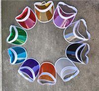Stingy Brim Hats 2021 Summer Adult Casual UV Protection Sun Visor Caps Women's Fashion Beach Outdoor PVC Plastic Hat