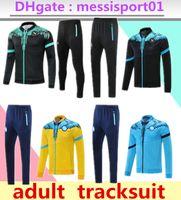 21 22 Napoli Tracksuit 자켓 축구 유니폼 Zielinski 2021/22 SSC 나폴리 긴 지퍼 세트 Veste Suit