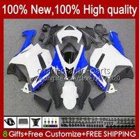 Motorfiets Glanzende Blue Backings voor Kawasaki Ninja ZX600C ZX-600 ZX 6R 600CC 6 R ZX636 07-08 Carrosserie 10NO.42 ZX-636 600 CC ZX6R 07 08 ZX600 ZX 636 ZX-6R 2007 2008 Bodys Kit