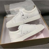 Wholesale White,Black Leather Sneakers Bottoms Shoes,Hot Luxey Designers Classic Style High Quality Red Soles Casual Shoes Skateboard xianghuaqiang
