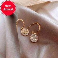 Moda letra G Link Chain Dangle Brincos Elegante Imitação Pérola Cristal Alfabeto Ear Earring Brinco Para As Mulheres Novo
