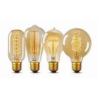 Other Lighting Bulbs & Tubes LED Filament Bulb E27 Retro Edison Lamp 220V 40WVintage Candle Light Dimmable Globe Ampoule Home Garden Decor