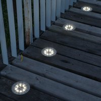 Solar Led Buried Light Lamps Outdoor Waterproof Floor Lamp Home Sunlight Powered Underground Emergency Garden Lights