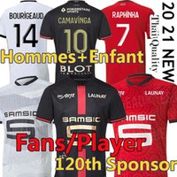 Stade Rennais 20/21 Fan Player Version Soccer Jerseys Rennes 120th Anniversary 2021 Camavinga Bourigeaud Niang Doku Hunou Men + Kids Kit Kit Maillots de Football Jersey