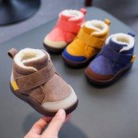 Bebek Yumuşak Alt Boy 1-3 Yaşında 2019 Sonbahar Kış Çocuk Tuval Rahat Kızlar Yürüyüş Ayakkabıları Toddler Botlar