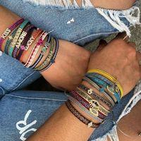 Charm Bracelet Go2boho Boho Jewelry Braided Bracelets Fabric for Women Pulseras Hand Woven 2021 Pattern Friends Braclet
