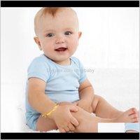Armbänder Schmuck Drop Lieferung 2021 18 Karat vergoldet Armband Herzglocke Baby Kinder Bangle 5Dot4 Gute Schöne PS2958 967OB
