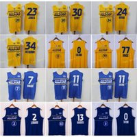 Basketball All Star Jersey Kyrie Irving Giannis AntetokounMPO Stephen Curry Luka Doncic Kawhi Leonard James Harden Jayson Tatum Blau Gelb