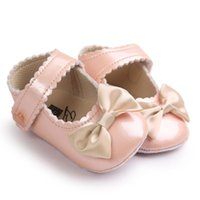 First Walkers Baby Girl Bowknot Leater Shoes Sneaker Anti-slip Soft Sole Toddler 2 Year Deportes Bebes Zachte Slippers Roze