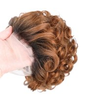 Lace Wigs Short Pixie Cut Wig Human Hair Fumi Curly 13x1 Part For Women Ombre 613 Blonde Brown Loose