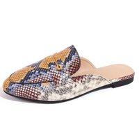 Women Flat Slippers Luxurys Designers Sandals Leather Brand Girl Slides Sandalias Casual Flip Flops Size 35-41 with Box
