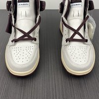 a ma maniere x الهواء 1 عالية og do7097-100 بورجوندي سحق 1s أنا النساء الرجال الأحذية الرياضية عارضة أحذية رياضية عالية الجودة المدربين الركلات مع المربع الأصلي