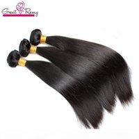 Greatramy Brasilian Human Human Bulk per estensioni dei capelli Silky Style Virign Bundles 12-30inch intrecciatura trama dei capelli Trasporto di goccia