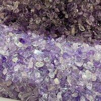 100 جرام الكريستال الطبيعي هدية ديكور الحصى جمشت فلوري غير النظامية المعدنية شفاء حجر العينة مناسبة للحوض الحرف المنزلية