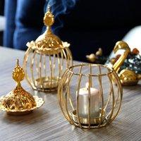 Incenso do metal queimador de ferro titular de arte dourado Torre Castiçal porcelana Censer Buddhism House Yoga Studio Fragrância Lâmpadas